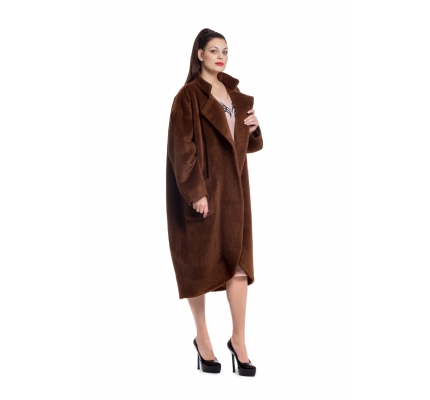 Coat brown color with buttons