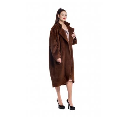 Пальто коричневе на кнопках