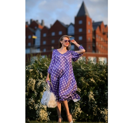 Purple polka dot dress