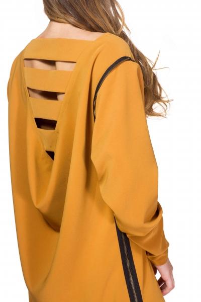 Сукня кольору охри - Фото