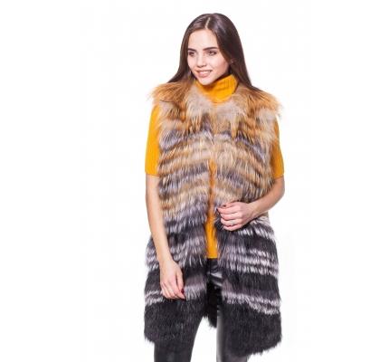 Vest fox fur