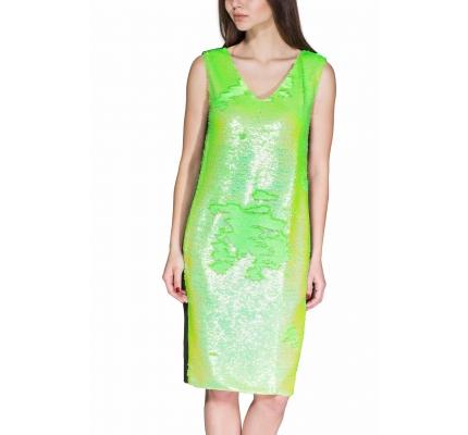 Сукня з зеленими паєтками