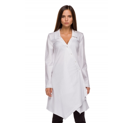 Long shirt white color