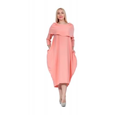 Платье-буль лососевое