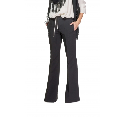 Trousers black flared