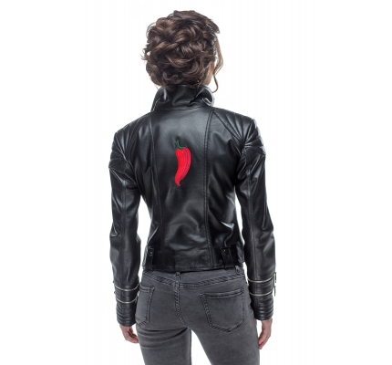 Leather jacket with pepper