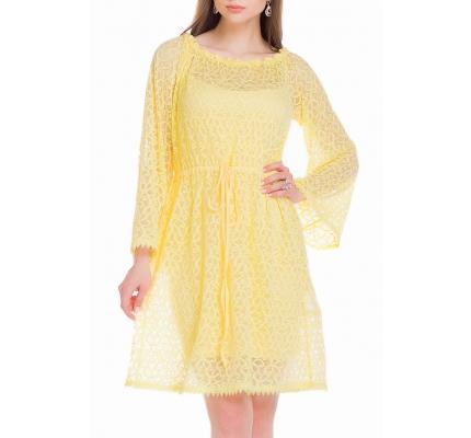 Платье-туника желтого цвета
