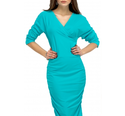 Dress drape mint color