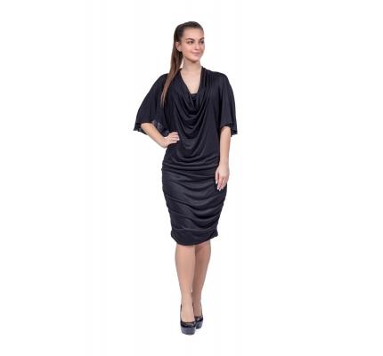 Платье драпировка черного цвета