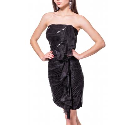 Платье вечернее короткое черного цвета