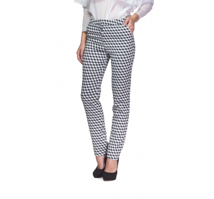 Trousers hologram black and white