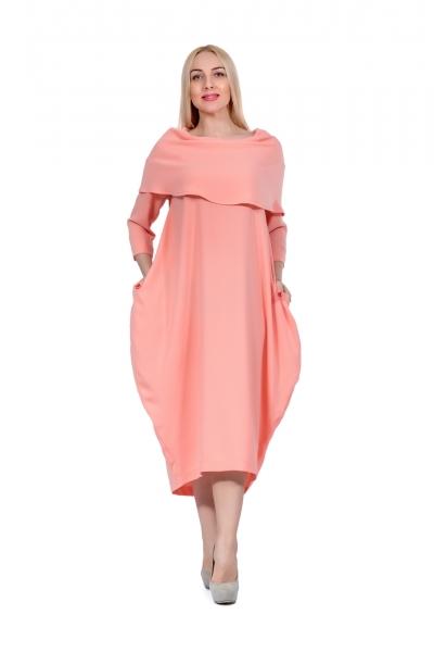 Платье-буль лососевое - Фото
