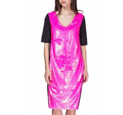 Сукня з малиновими паєтками