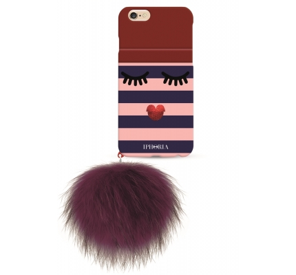 Case Monster with red Pom Pom for Apple iPhone 7