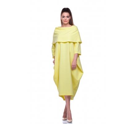 Платье-буль желтый