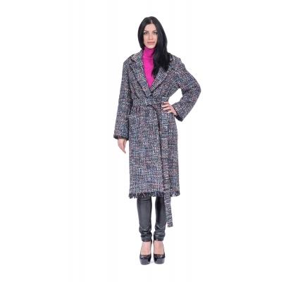 Пальто рогожка  с люрексом
