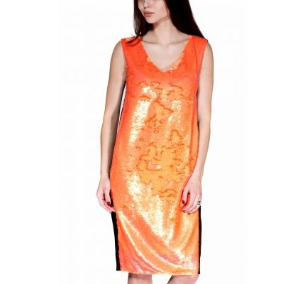 Сукня з помаранчевими паєтками
