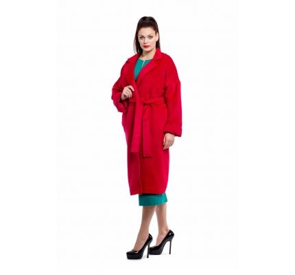 Red kimono coat