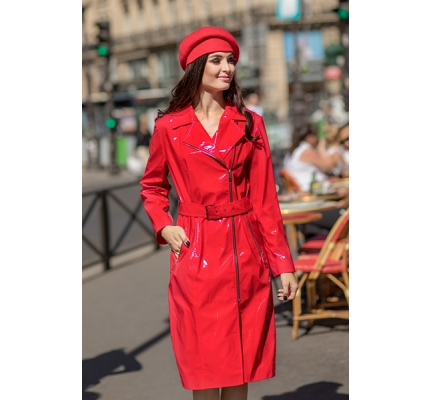 Ecoskin red lacquer coat