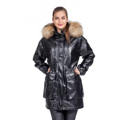 Куртка-парка черная