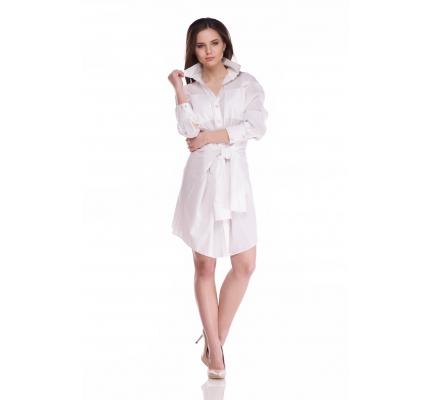 Платье рубашка с поясом из рукавов