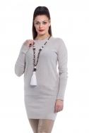 Платье-туника бежевое - Фото