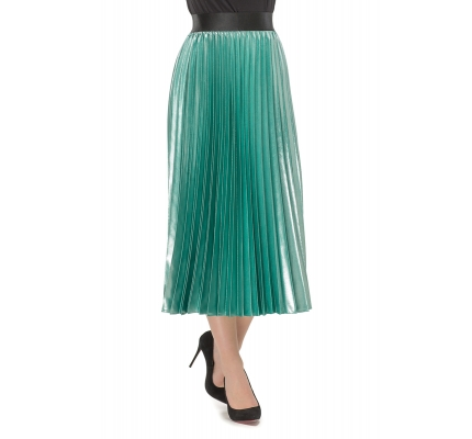 Skirt pleated mint color
