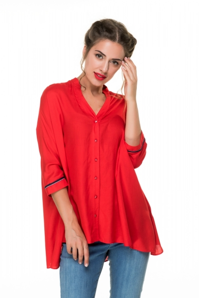Blouse red color - Фото