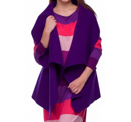 Пончо фиолетового цвета