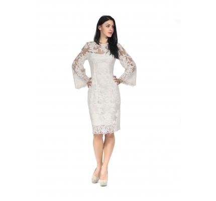 Платье гипюровое белое