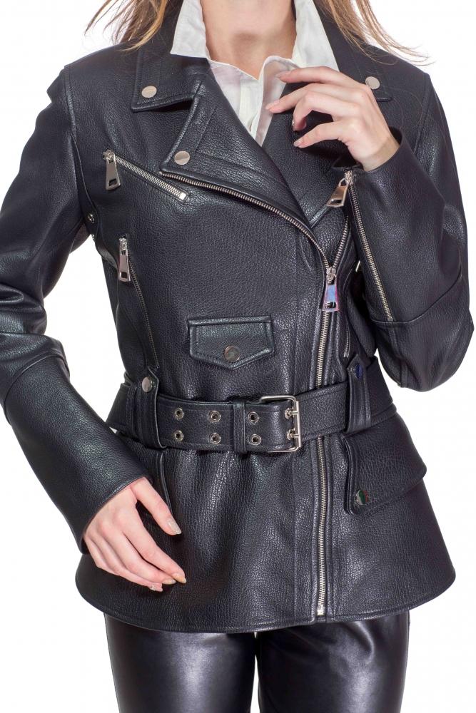 Куртка зі шкіри під пояс ba927ea3aacef