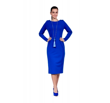 Dress-case blue color with zipper on back