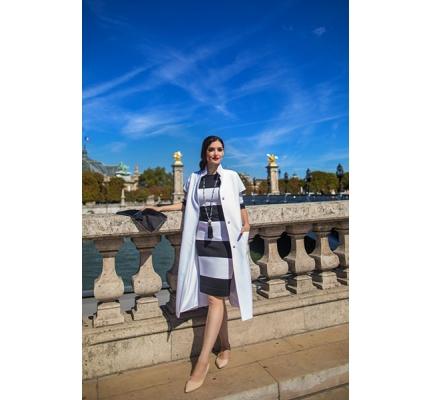 Сукня трикотаж чорно-біла