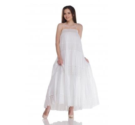 Sundress white with proshvoy