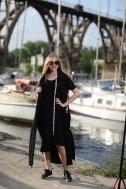 Длинное платье черного цвета - Фото