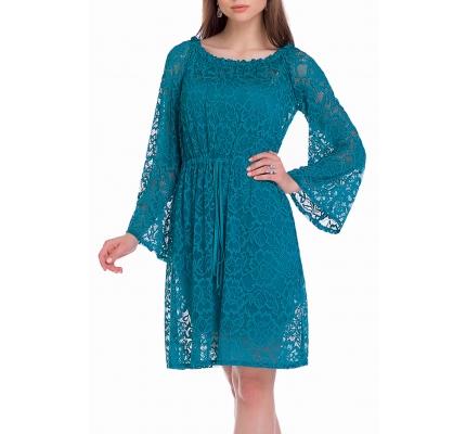 Платье-туника зеленого цвета
