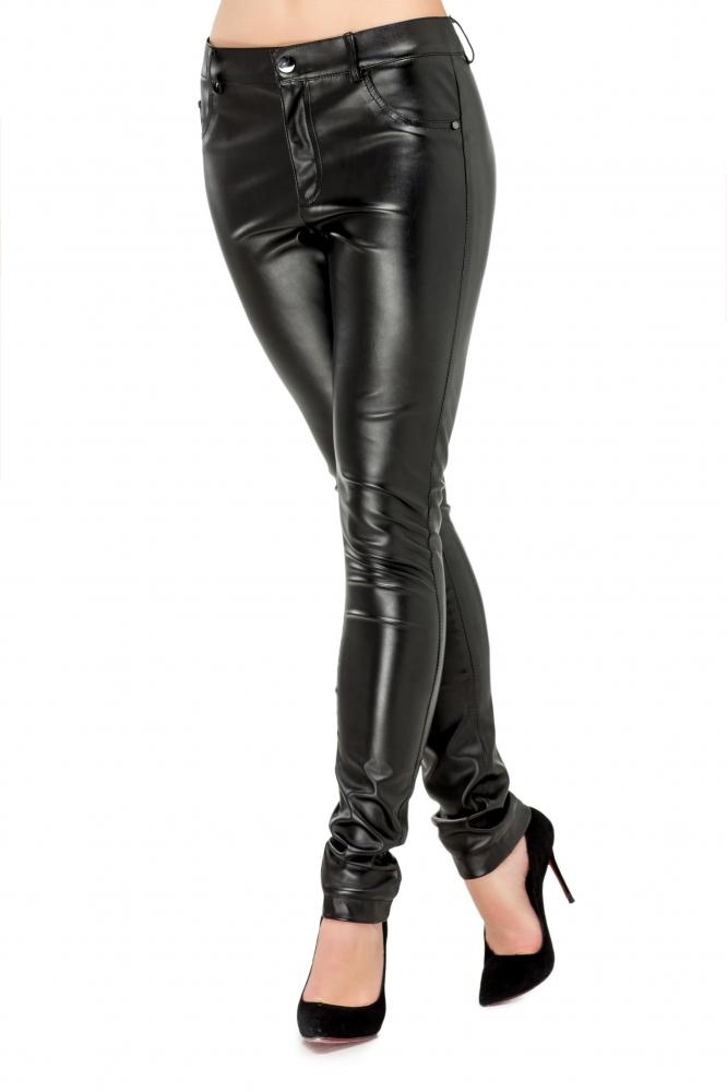 Штани з еко-шкіри чорного кольору 5c4ba1defe0d3