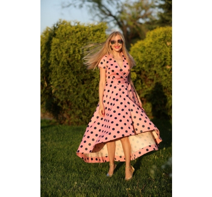 Dress light pink polka dot