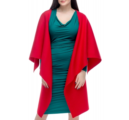 Poncho angles red