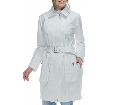 Cloak white with belt