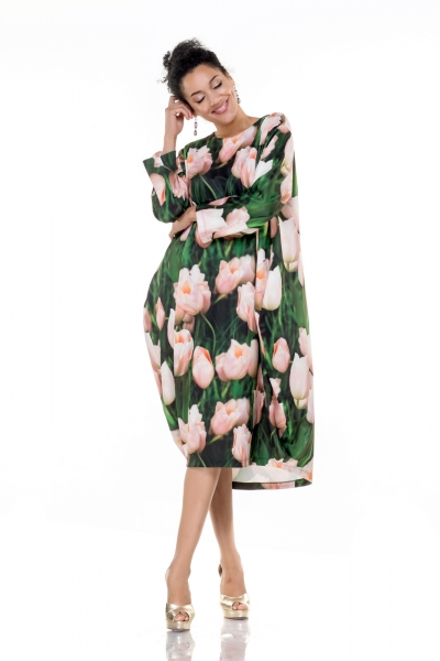 Dress-boil with tulips  - Фото