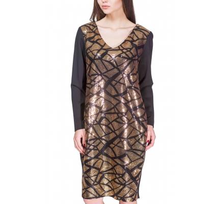 Сукня з золотими паєтками