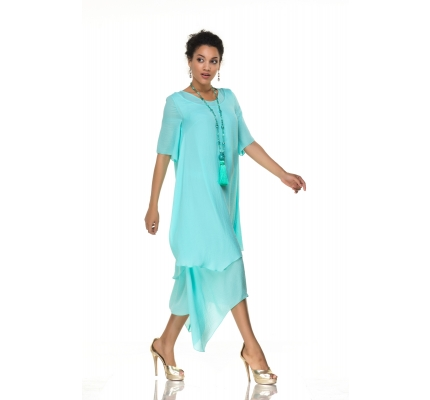 Dress mint color of free cut