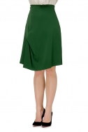 Skirt with trapezoid green color - Фото