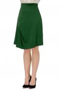 Спідниця з трапецією зеленого кольору - Фото