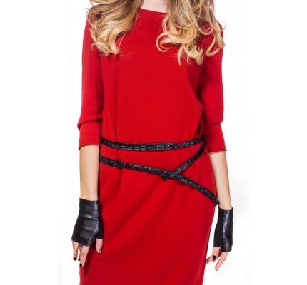 Сукня прямого крою теракотового кольору