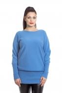 Платье-туника голубая - Фото