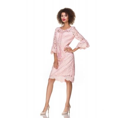 Сукня рожева гiпюрова