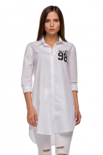 Рубашка белого цвета - Фото