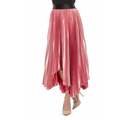 Skirt pleated pink color